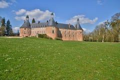 Saint Fargeau, France - april 5 2015 : the medieval castle Royalty Free Stock Image