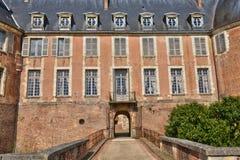 Saint Fargeau, France - april 5 2015 : the medieval castle Stock Photo