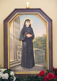 Saint Faustina Kowalska in the picture. Saint nun Faustina Kowalska from Poland in the picture Royalty Free Stock Images