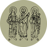 Saint figures Stock Photo