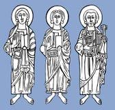 Saint figures Stock Image