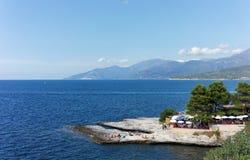 Saint Florent coast in Corsica Stock Photography