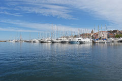 Saint-Florent corse de port image libre de droits