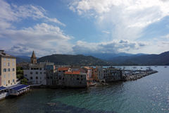 Saint Florent harbor Royalty Free Stock Images