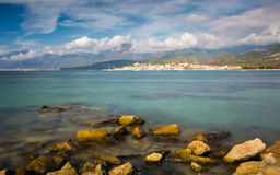 Saint Florent in northern Corsica Stock Photo