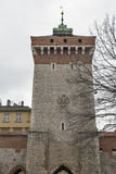 Saint Florian Gate in Krakow, Poland. Royalty Free Stock Images