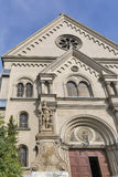 Saint Florian statue at Carmelita Basilica. Keszthely, Hungary. Stock Photo