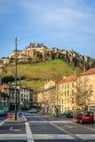 Saint Flour, Cantal, Auvergne-Rhône-Alpes, France. The city of Saint Flour is divided into a historic upper town and a new suburb Stock Photo