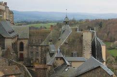 Saint-Flour, Cantal ( France ) Stock Photos