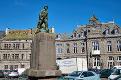 Saint Flour main Square, Cantal, France Stock Photo