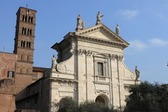 Saint Francesca Romana Basilica in Rome Stock Images