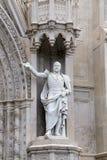 Saint Francesco Cathedral exterior detail. Gaeta Royalty Free Stock Photo