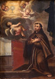 Saint Francis of Assisi. Altarpiece in Franciscan church of the Friars Minor in Dubrovnik stock photo