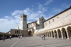 Saint Francis Cathedral Assisi Italy Royalty Free Stock Image