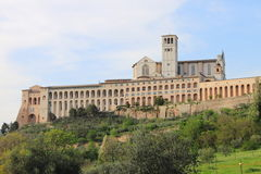 Saint Francis Cathedral in Assisi Royalty Free Stock Images