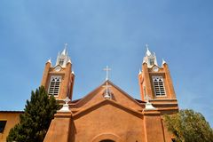 Saint Francis Cathedral in Santa Fe, New Mexico Stock Images
