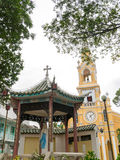 The Saint-Francis Church (Cham Tam Church) in Ho Chi Minh, Vietnam. The Saint-Francis Church in Cholon (also called the Cham Tam Church). It was built at the end Stock Photo