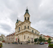 Saint Francis church in Warsaw, Poland Stock Photos
