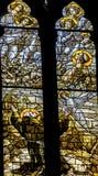 Saint Francis Stained Glass Altar Santa Maria Frari Church Venice Italy Foto de Stock Royalty Free