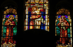 Saint Francis - Stained Glass Royalty Free Stock Images