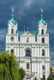 Saint Francis Xavier Cathedral em Grodno fotografia de stock royalty free