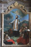 Saint Francis Xavier. Church altar Royalty Free Stock Photography
