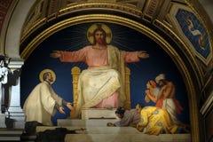 Saint Francis Xavier que apresenta a Jesus Christ os povos que converteu imagens de stock
