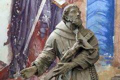 Saint Francis Xavier. Statue on church altar Royalty Free Stock Photography
