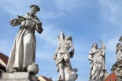 Saint Francisco de Assis, Sebastian e James fotos de stock