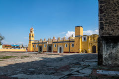 Saint Gabriel Archangel friary Convento de San Gabriel - Cholula, Puebla, Mexico. Saint Gabriel Archangel friary Convento de San Gabriel in Cholula, Puebla stock photo