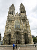 Saint Gatien Cathedral of Tours Stock Photo