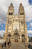 Saint Gatien's Cathedral. Tours. France Royalty Free Stock Photo