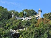 Saint Gellert Monument in Budapest, Hungary. Saint Gellert Monument on the Gellert Hill in Budapest, Hungary. The monument designed by sculptor Gyula Jankovits Royalty Free Stock Photo