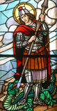 Saint George. Stained glass church window Royalty Free Stock Photography