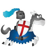 Saint George. Cartoon Saint George riding on his horse Stock Photography