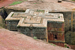 Saint George. Church of Saint George in Lalibela, Ethiopia Royalty Free Stock Photography