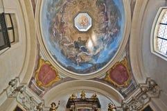 Saint George Basilica within the Castle of Prague stock image