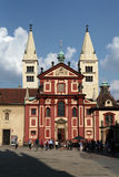 Saint George Basilica at the Prague Castle Royalty Free Stock Image