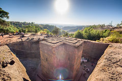 Saint George church in Lalibela Ethiopia Royalty Free Stock Images