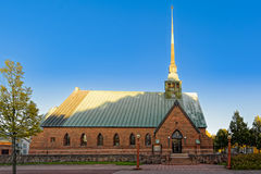 Saint George Church in Mariehamn, Aland, Finland. Saint George Church Sankt Gorans kyrka - Aland mother church without a medieval backgroundin in Mariehamn Stock Image