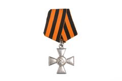 Saint George cross of Imperial Russia isolated Royalty Free Stock Photography