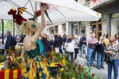 Saint George Day in Barcelona, Spain Stock Photography