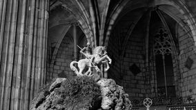 Saint George and the dragon Royalty Free Stock Photos
