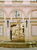 Saint George Fountain in Bratislava, Slovakia Royalty Free Stock Image