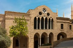 Saint George Greek Orthodox Cathedral Beirut L?bano imagem de stock