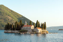 Saint George island in Kotor Bay Royalty Free Stock Images