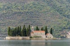 Saint George island, Montenegro Stock Image