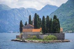 Saint George islet in Montenegro. St George islet in the Kotor Bay, near Perast town, Montenegro royalty free stock image