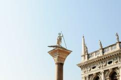 Venice - Saint George killing the dragon Royalty Free Stock Photos