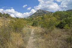 The Saint George mauntain in Crimea. Royalty Free Stock Images